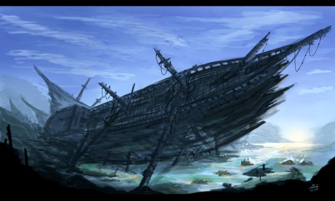 Ship Graveyard by *rmac619  CC BY-NC-ND 3.0  DeviantArt